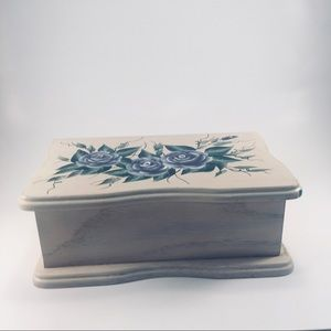 Pretty Asian Crafted Wood Jewelry Box!